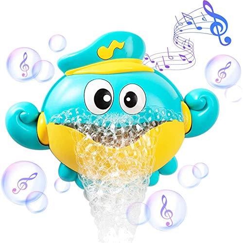 ZWOOS Badewannenspielzeug - Tintenfisch Blasenmaschine - Seifenblasen Badespielzeug mit 12 Musik für Baby, Kleinkinder