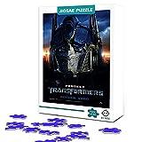 Puzzle para adultos 300 piezas Transformers Optimus Prime póster de película rompecabezas de madera familia estrella de cine póster rompecabezas, juguete educativo 38 x 26 cm