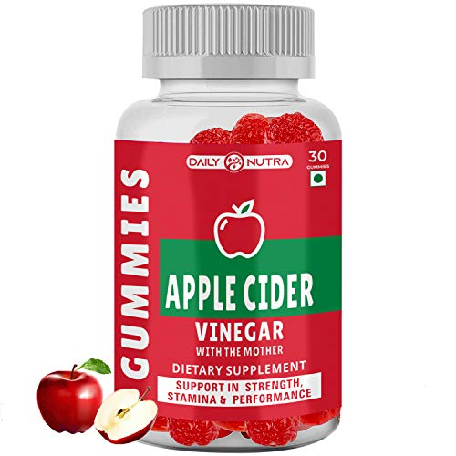 DailyNutra Apple Cider Vinegar with mother Vegetarian Gummies Support Weight Loss | boost immunity, digestion, detox For Men and Women 30 Gummies