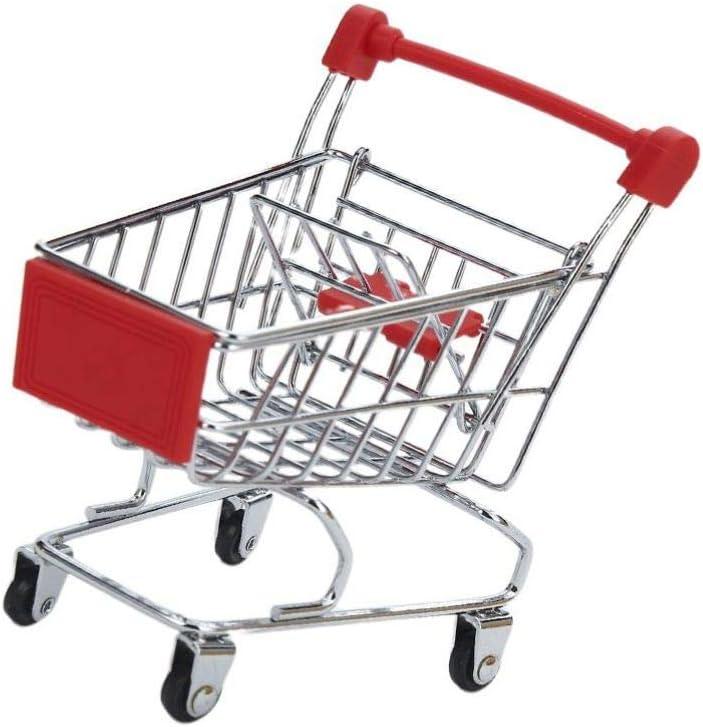 TOYANDONA Mini Shopping Carts Toy Storage Desktop Cheap super special price for Kansas City Mall Decoration