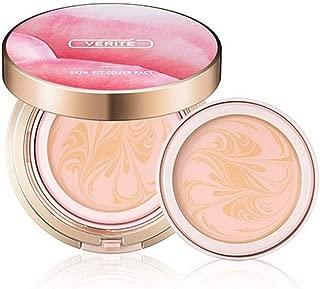 Korean Cosmetics Amore Pacific Verite Skin Fit Cover Pact Foundation Premium Makeup 15g (0.53oz) - include Refill (#21.Skin Vanilla)