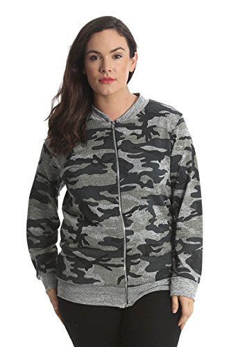 Comfiestyle New Ladies Jacket Womens Bomber Jacket Army Camouflage Print Plus Size Nouvelle. UK 14-28