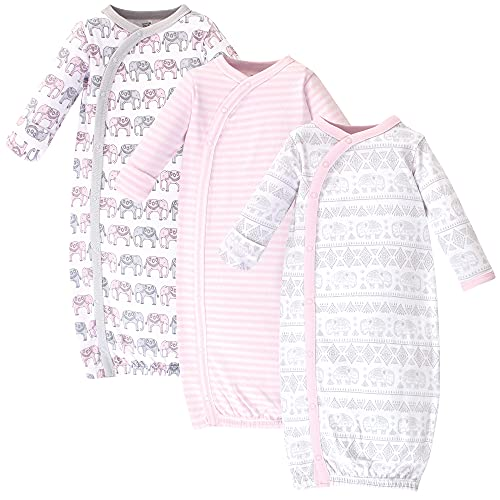 Touched by Nature unisex baby Organic Cotton Kimono Nightgown, Pink...