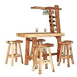 Set di mobili da giardino bar in legno di teak Bar mobili da giardino casa bar bancone
