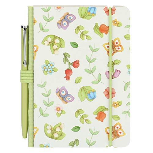 THUN - Mini quaderno per appunti Country - con penna - Carta - 8,5 x 12 x 1 cm