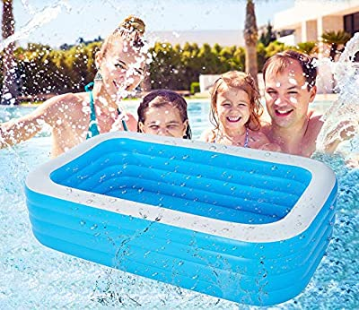 BallsFHK Family Lounge Pool Inflatable Swimming Pool, Inflatable Lounge Pool for Kiddie, Adults, Easy Set Swimming Pool for Backyard, Summer Water Party (30518378(Wear-Resistant))