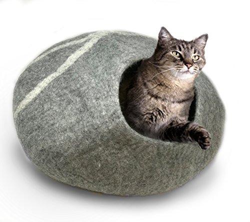 iPrimio 100% Natural Wool Eco-Friendly 40 cm Cat Cave - Handmade Premium...
