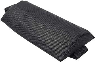 FLAMEER Hoofdsteun Hoofdkussen voor het vouwen van Slingstoelen/fauteuil/loungestoel voor terrastuin, zwembad - zwart