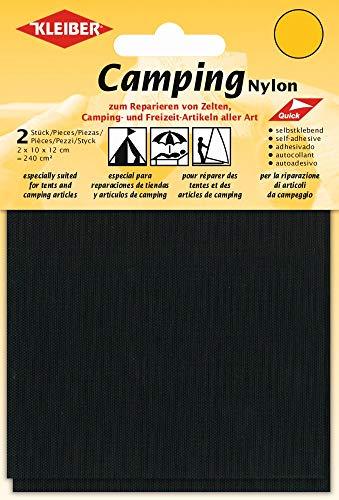 Kleiber Patchs Style Toile Nylon imperméables Autocollants, Noir