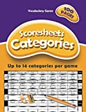 Categories - Vocabulary Game: Scoresheets, 100 pages, up to 14 categories per game