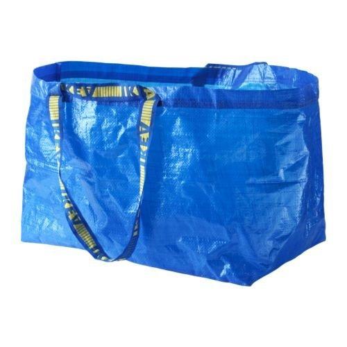 IKEA FRAKTA 172.283.40Bolsa de la compra, grande, azul, Juego de 15