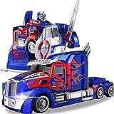 SSBH オートボットトランスロボットDynaSkyおもちゃの車ワンピース変形子供のおもちゃの車無敵アイアンオックスオートボットオートボットダイナミックな音楽ホリデーおもちゃクリスマスのギフト