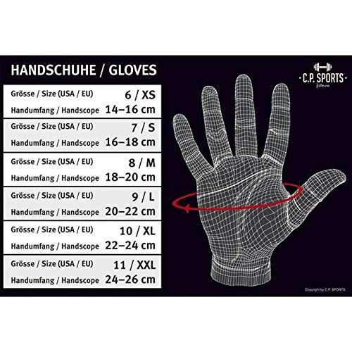 "C.P.Sports Fitnesshandschuhe ""Perfekt-Grip-Bandagen Handschuh Gr.L"" TOP DESIGN 2014 – Bodybuilding & Kraftsport - 4"