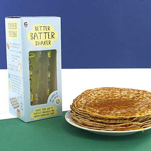 Ginger Fox Better Batter Pancake & Yorkshire Pudding Shaker - No Need For Bowls Or Whisks - Dishwasher & Microwave Safe