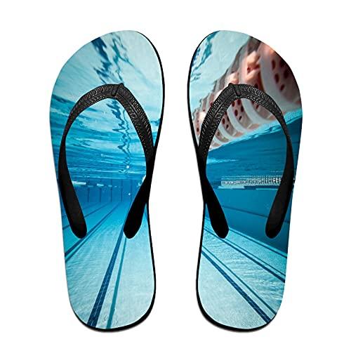 Sandales unisexes minces à bascule,Piscine sous l
