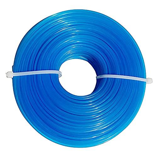 LISM Mähfaden Trimmerfaden 1,6mm x 100M, Rasentrimmer Schnur für Garten Rasentrimmer Elektrische Trimmer, Blaue runde nylonfaden