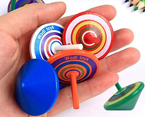 Libershine 30 Pcs Colores Peonza Trompo Juguete, Peonza de Colores Pintadas Suministros para la Fiesta, Creativo Juguete, Regalos para Comuniones
