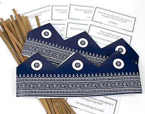 That's Crackers 25 Sombreros de Papel marroquí Ajustables, broches para Galletas y Chistes de Navidad