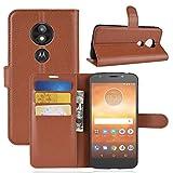 Zhangl Cas de téléphone Portable en Cuir Etui à Rabat en Cuir Litchi Texture pour Motorola Moto...