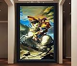 Napoleon Gemälde Großes Wandbild für Flureingang Wohnzimmer Foto Tapete Wanddekoration Europäische Tapeten Benutzerdefiniert Jede Größe-Über_250 * 175cm_2_Streifen