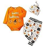 Dasongff Ensemble Vêtements Halloween 3 Pièces pour Bébé Garçon et Filles 0-18 Mois...