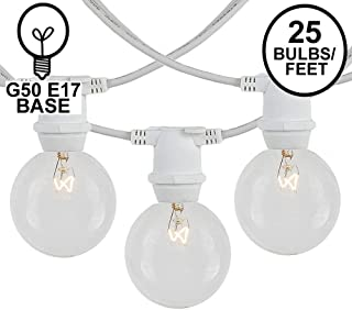 25-Feet White American Lighting XC92512-WH Seasonal Lighting Stringer for C9 Bulbs