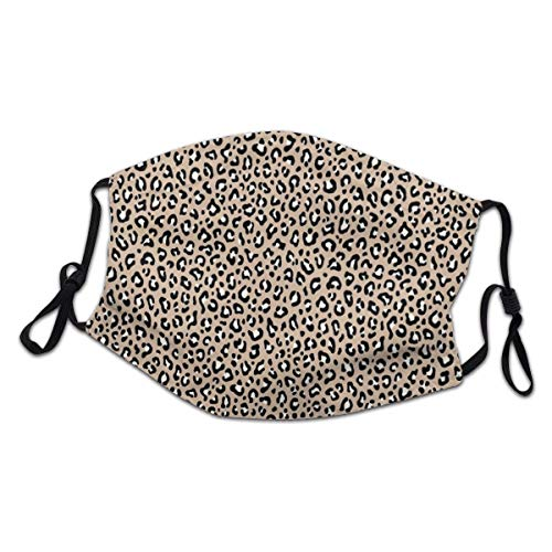 yuhuandadi Leopard Print In Black U Ivory White On Beige Nude Scale Col Balaclava Child Kids Teenager Headwear Haze Dust Face Health Protection,Reusable/Washable