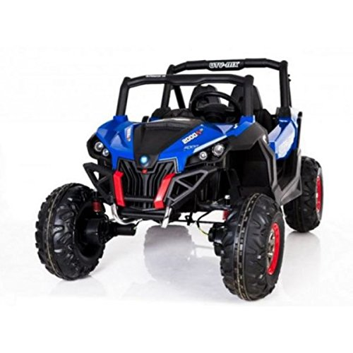 Elektroauto 2Sitzer 24V Buggy utv-mx blau–Pack Luxe
