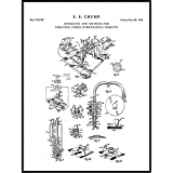 3D Printer Patent Print Art 1992 A, Hacker Inventor, Fab Lab, Makerspace, Blueprint, Maker, QP405