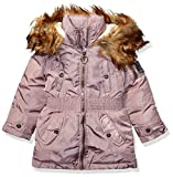 Steve Madden Girls Girls' Toddler Long Outerwear Jacket (More Styles Available), Anorak Dusty Pink, 2T