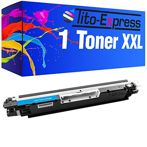Tito-Express PlatinumSerie 1 Toner compatibile con HP CE311A Cyan CP1025 CP1025N CP1025NW MFP M175A M175NW M176 BX925FWD BX 320 630 FW 635 935 FWD SX 235 425 435 535 W WD