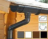 Kit gouttière PVC pour un versant | Extra100 | disponible en 4 couleurs | Idéal pour véranda ou chalet de jardin ! (Kit complet jusqu'à 7.00 m, Anthracite)