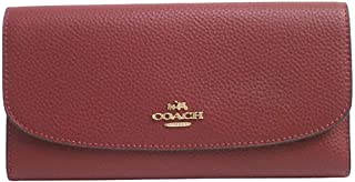 Coach Checkbook Wallet In Polished Pebble Leather F16613