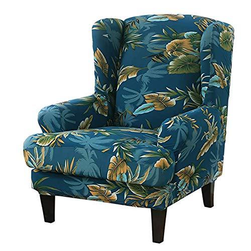YWTT 2 Piezas de Fundas elásticas para sillas de Orejas, Fundas para sillas con Respaldo de Orejas, Fundas para sofás, Fundas para sillas con Respaldo de Orejas Impresas (4 Colores)