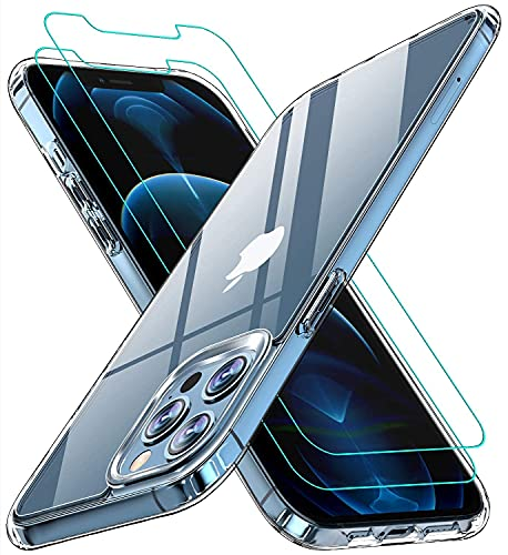 AEDILYS Compatible with iPhone 12 pro max Case[Airbag Series] with [2xScreen Protector] 6.7 Inch- Clear