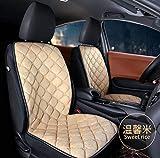 YU-ZC0 Prima Fila Car Due seggiolino Auto Inverno Cuscino del Sedile Riscaldamento stuoia della sede Universale Riscaldamento Elettrico Cuscino del Sedile,Beige