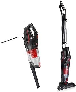Dibea SC4588 Aspiradora Verticales con cable 2 en 1 sin Bolsa de mano con Cyclone HEPA Filtracion Potente Led-Luz_Negro