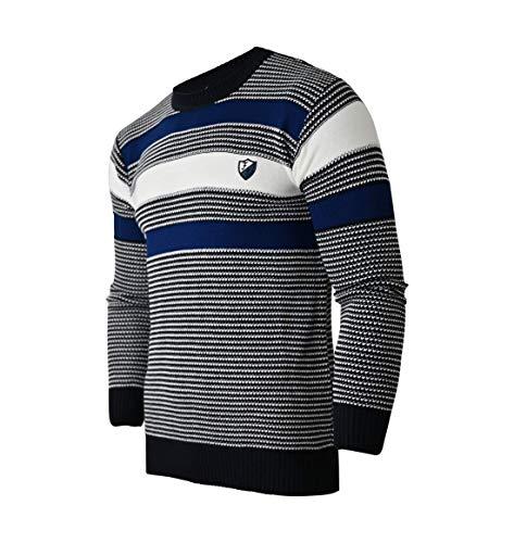 Soltice sweatshirt met lange mouwen voor heren, poloshirts, winter- gebreide trui van katoenmix (M tot 3XL)