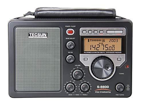TECSUN S-8800 Radio Neuer Ferngesteuerter Tuner PLL DSP AM/FM/FM/Allband-Digital-Tuner Einseitiges LW/SW-Vollband-Radio-Stereo mit Fernbedienung
