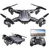 UPANV Drone avec caméra 4K WiFi FPV Flux Optique Positionnement Geste Photographie Pliable Quadcopter Altitude Hold Drone