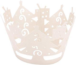 Healifty artistiques 50pcs de cupcakes Bake Cake gobelets en papier découpé au laser pour décoration de fête d'anniversai...