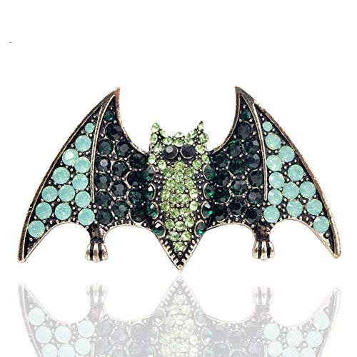 HUNANANA Halloween Strass Fledermaus Broschen Für Frauen Mode Vintage Tier Pins Für Mann Ausschnitt Party Zubehör Geschenk