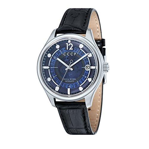 CCCP sputnik-2Hombre Negro Piel–Reloj cp-7026–03