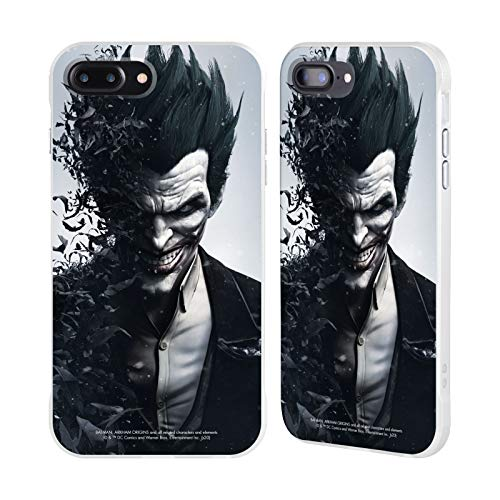 Head Case Designs - Carcasa para Apple iPhone, diseño de Batman, color blanco, compatible con Compatibilité: Apple iPhone 7 Plus: 32GB, 128GB & 256GB / Apple iPhone 8 Plus: 64GB & 256GB