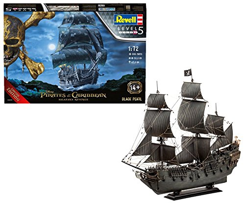 Revell 05699 Piratenschiff Disney Black Pearl (License Restricted, See Pirates of The Carribean), Mehrfarbig