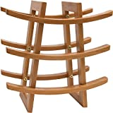 Small Wine Rack – EcoTrueBamboo - Wine Storage for 9 Bottles – Perfect for Vino Bars and Cellars -...