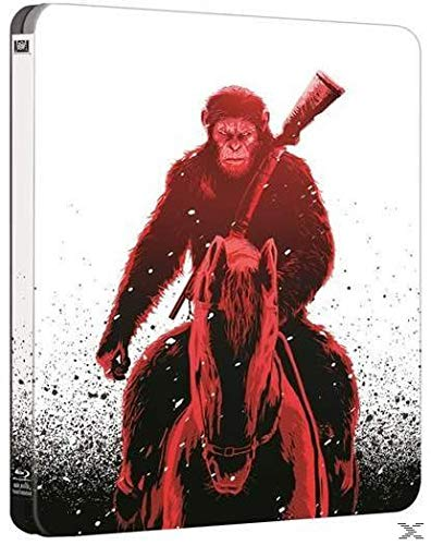 War for the Planet of the Apes [3D + Blu-ray] [Steelbook] (No German) English, Russian, Czech, Hindi, Hungarian, Polish, Thai, Turkish, Hebrew