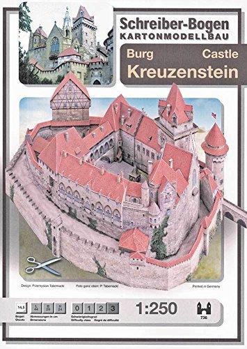Aue Verlag Modellbausatz Burg Kreuzenstein, 44 x 29 x 24cm