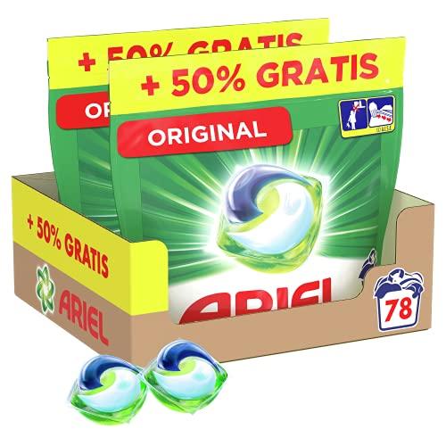 Ariel Pods Detergente Lavadora Cápsulas, 78 Lavados (Pack 2 x 39), Original