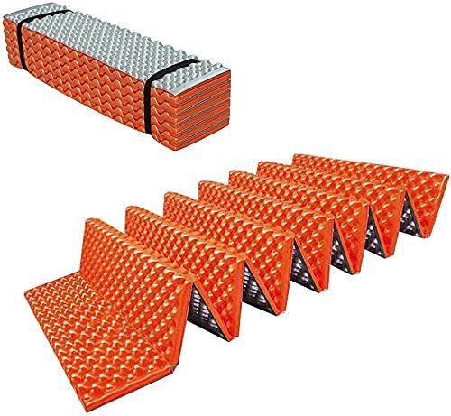 JYDNBGLS Estera de camping al aire libre de doble cara a prueba de humedad Mat extra gruesa 61mm Colchoneta de dormir plegable de aluminio Yoga Mat para senderismo